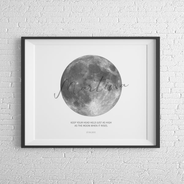 Moonprint White vodoravno