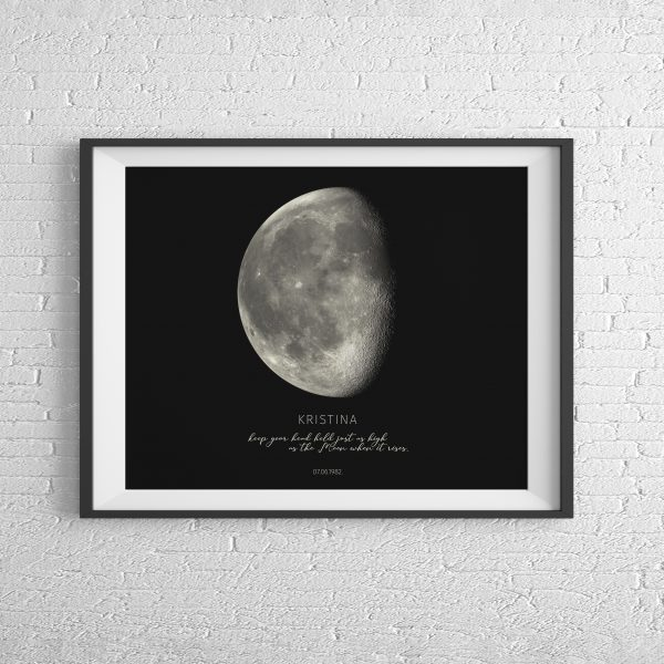 Moonprint Black - vodoravno